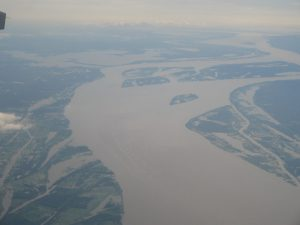 The mighty Amazon near Manaus - an intricate maze of river, islands and waterways.