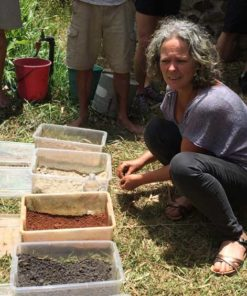 Angela Skehan teaching soil