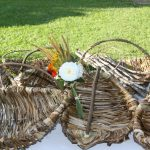 Basket weaving with banana stem fibres
