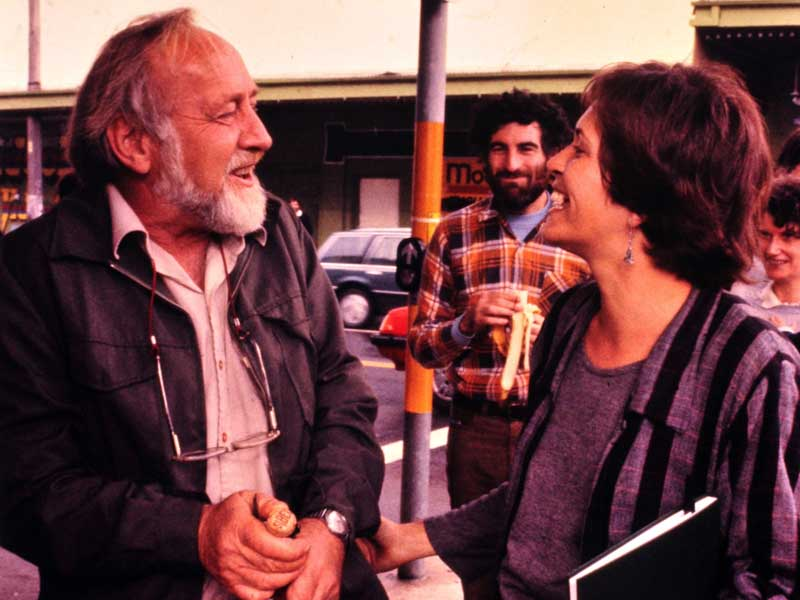 Bill Mollison and Robyn Francis at the opening of the EPICentre in Enmore, Sydney, 1986
