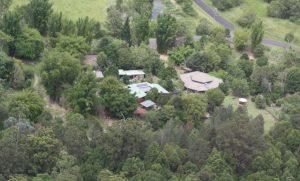 Aerial photo of Djanbung Gardens