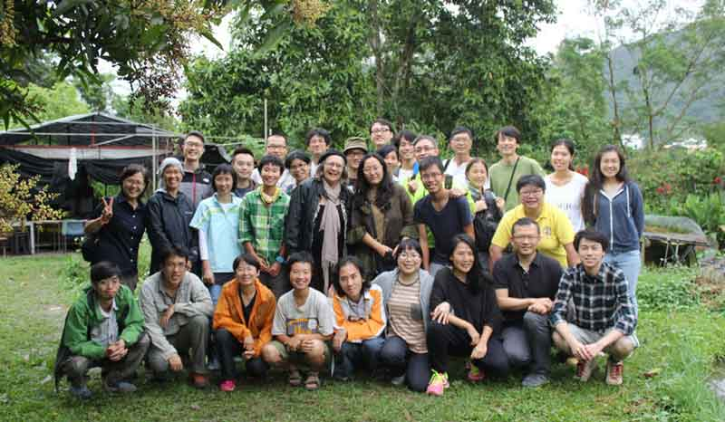 Robyn Francis with advanced permaculture course participants, Hong Kong, April 2016