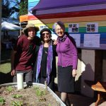 Sam Newton, Robyn Francis and Lismore Mayor, Jenny Dowel