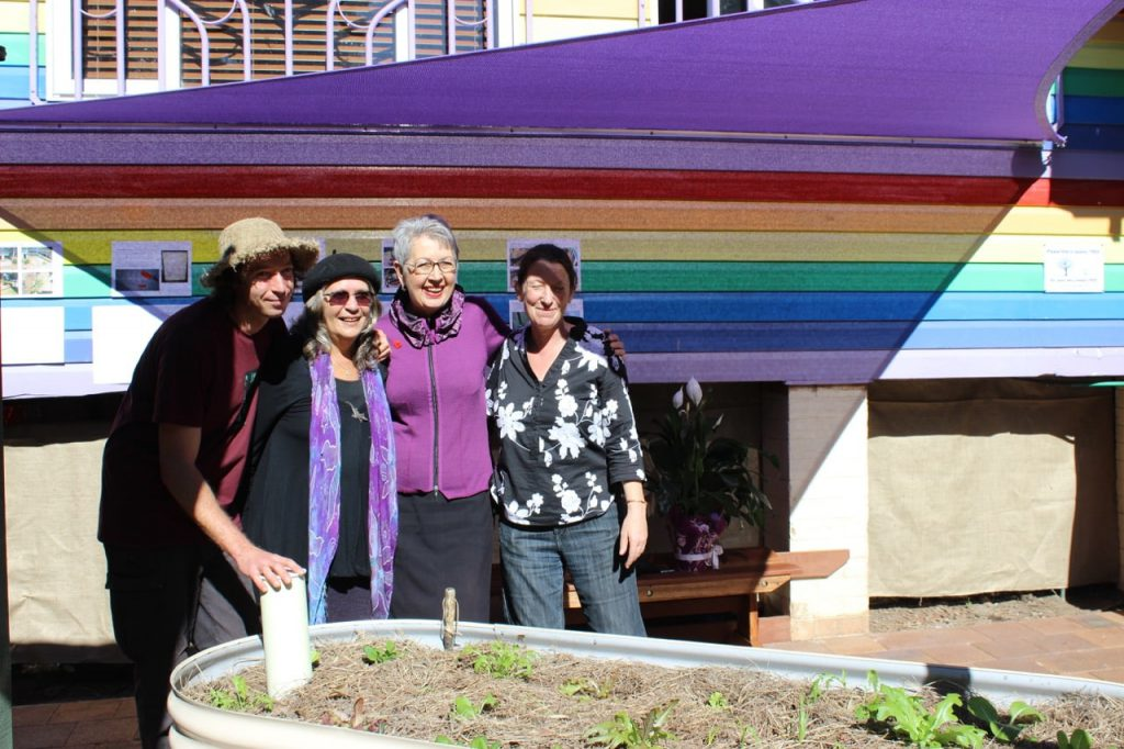 Garden for the aged opening at Nimbin Community Centre