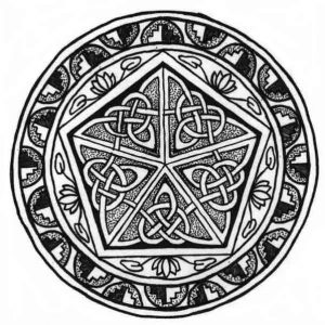Celtic mandala of protection by Robyn Francis