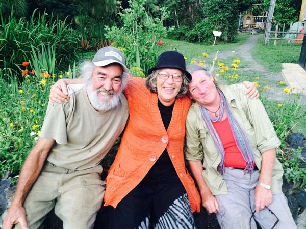 Rob Swain, Robyn Francis and Julianne Hartmann Oct 2016, Djanbng Gardens