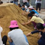 Students enjoy hands-on 3D modeling of contours and water management strategies