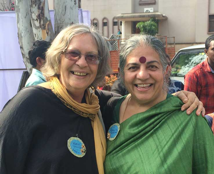 Robyn Francis with Vananda Shiva at IPC India